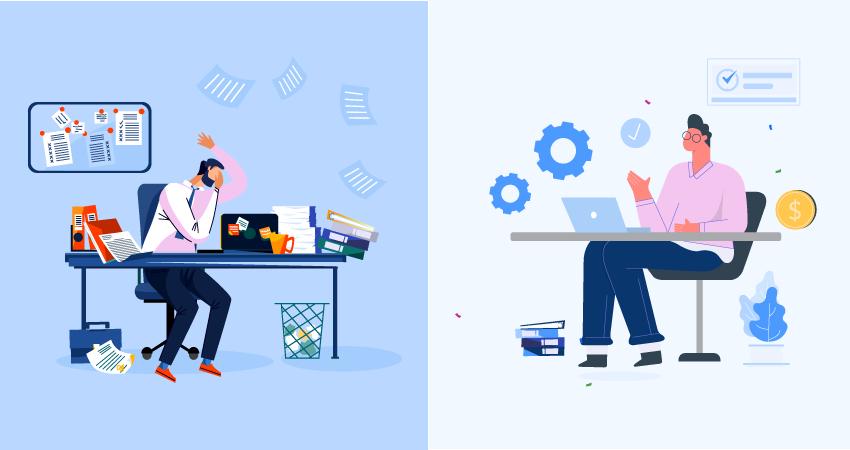 manual process vs automation process