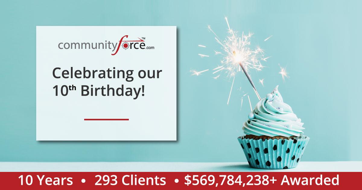Communityforce Celebrating 10 years