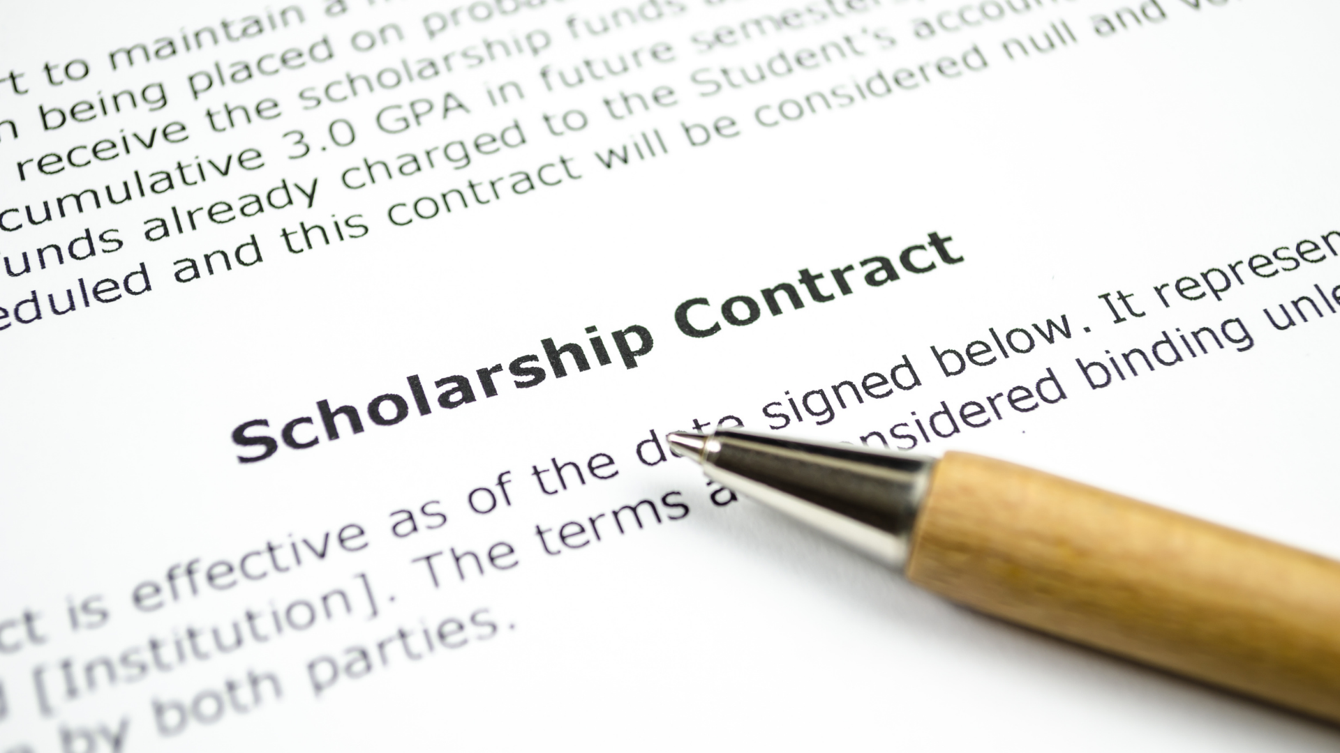 How Important is a Scholarship Contract?